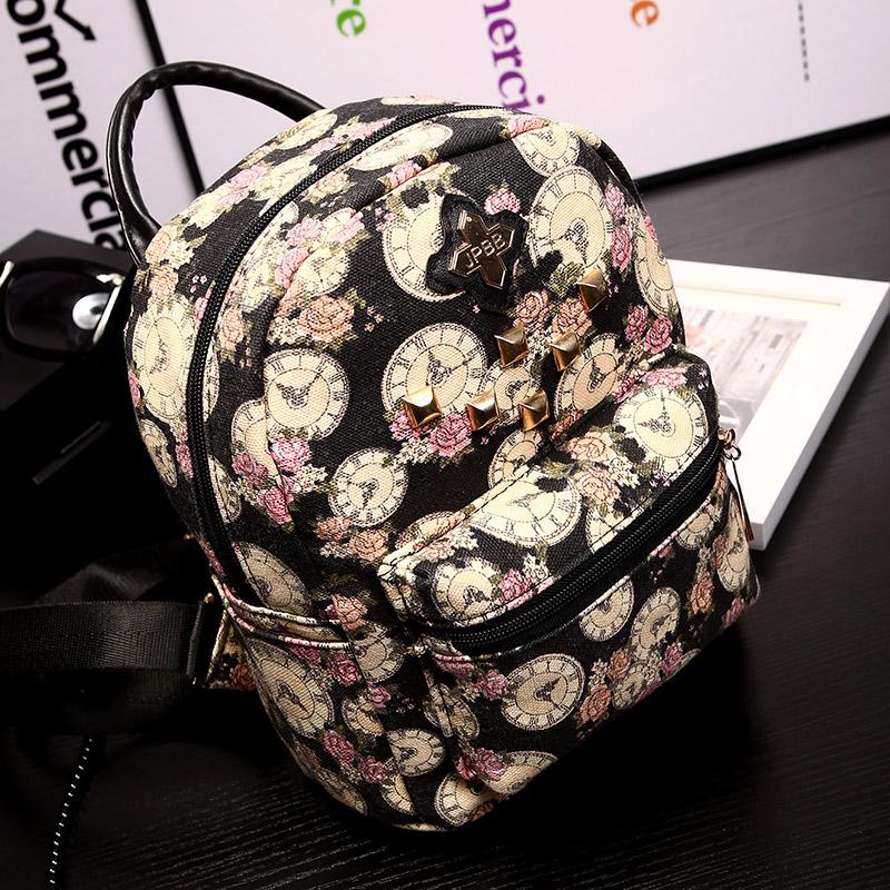 Новый мини сумочка холщовый рюкзак девушки ретро сумка мешок колледжа Ветер Корейский досуг бум