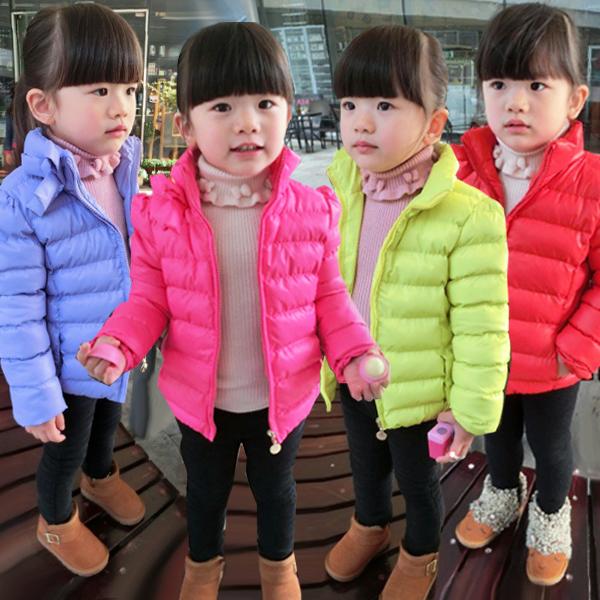 ESPRIT дети девушка корейской версии 2015 теплой мягкой хлопка одежды пальто куртки пальто зимы новый 2-7 o