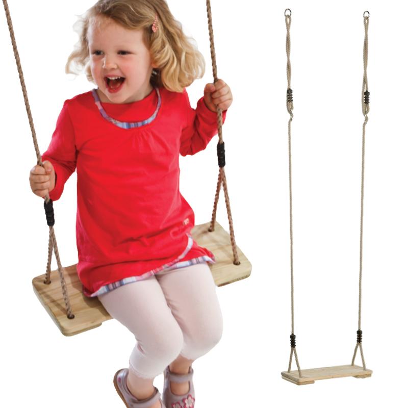 博海 儿童木制秋千宝宝室内户外荡秋千 家用小孩吊椅 秋千座椅