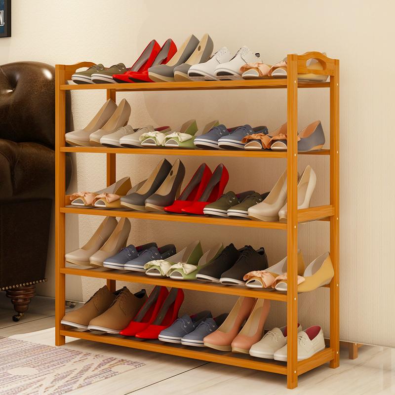 億家達簡易鞋架多層鞋櫃鞋架防塵楠竹鞋架子 簡約收納架置物架
