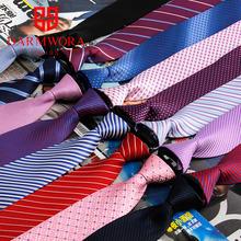 Корейская версия 7 см, ленивый тянуть zip галстук торжественная одежда бизнес легко и просто жених женатые мужчины