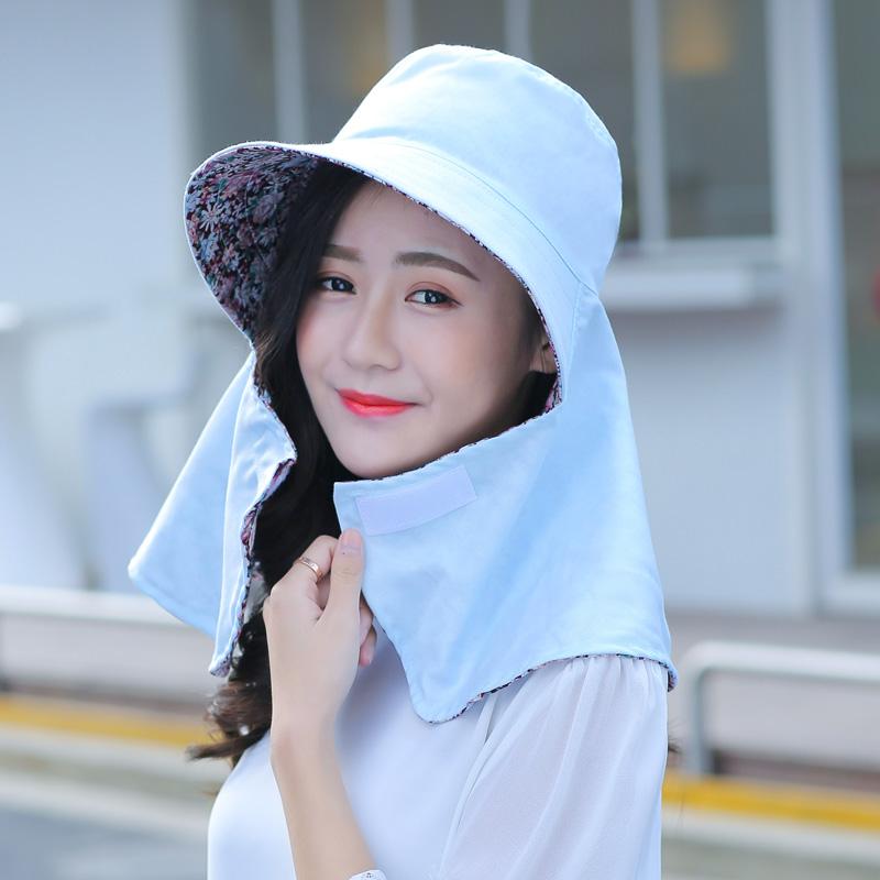 Складные на открытом воздухе шляпа женщина весна день солнце крышка ветролом шея защищать шея цикл крышка лицо солнцезащитный крем крышка лето крышка