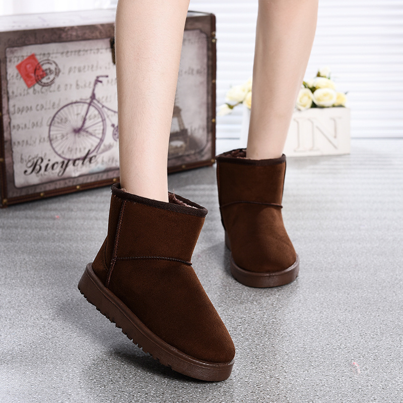 Winter snow boots Short canister boots Thicken Warmth women shoes