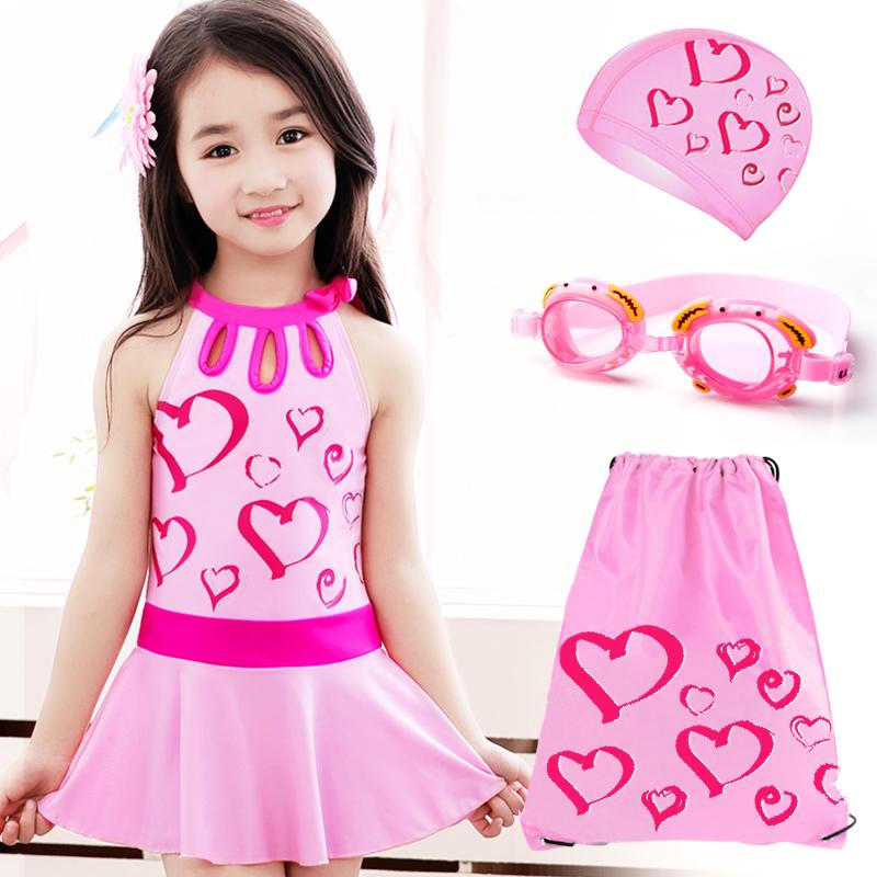 Новый ребенок купальный костюм девочки корейский сиамский юбка в больших детей плавать одежда принцесса студент корея девушка плавание наряд