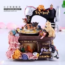 复古猫咪缝纫机音乐盒八音盒创意生日礼物男送女生闺蜜女友同学