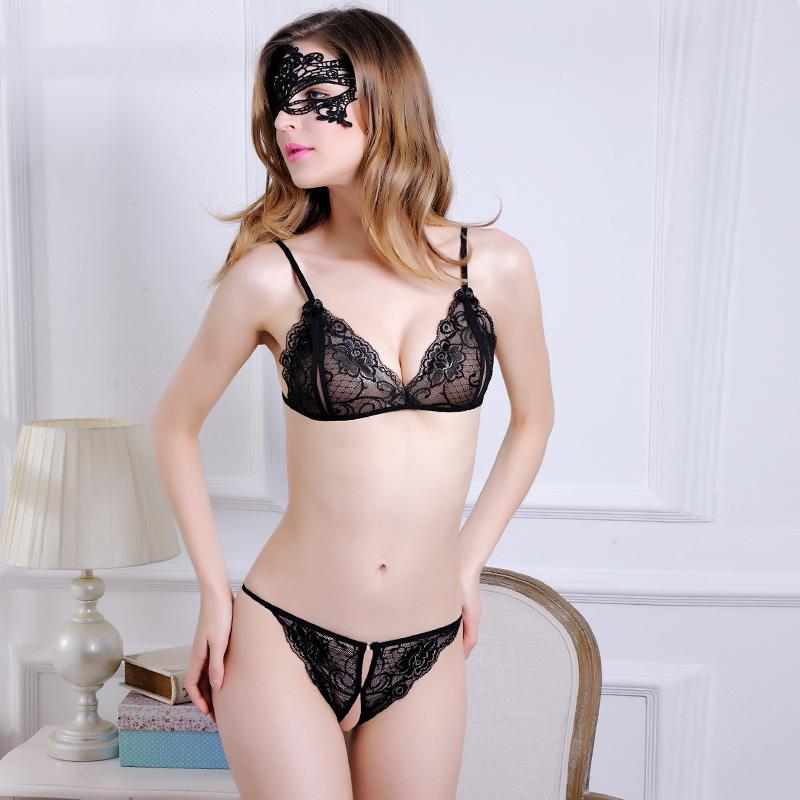新款sm情趣内衣透明成人精美花纹三点式蕾丝性感大码套装成人用品