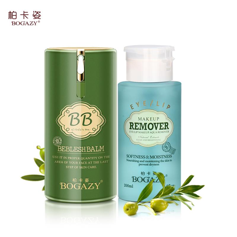 Bai казы косметика макияж комплект с макияжа обнаженной BB крем маскирующее макияж для удаления воды