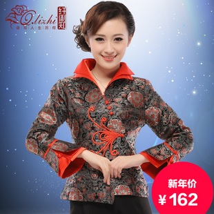 Li fiber known Miss Tang Zhuang jacket 2015 spring new retro fashion improved Chinese style fall and winter clothes long sleeved T shirt