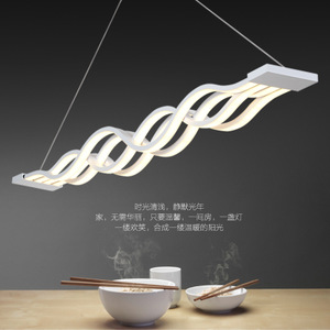 新中式吊灯家装吊灯卧室灯书房灯餐吊灯波浪形灯创意艺术吊灯