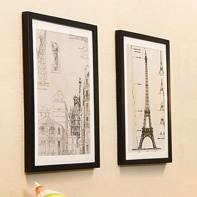 実木大画展示フォトフレーム30*40は26 38,5350,60,80 cmのポスターフレームを予約します。