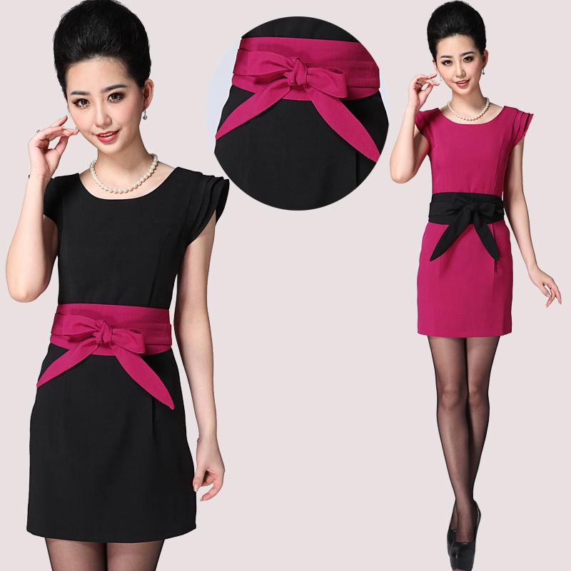 促销包邮美容师工作服夏装时尚职业装女装套裙OL气质连衣裙休闲裙