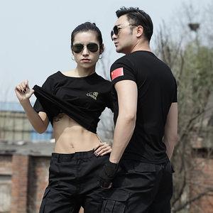 刺绣中国特种兵男圆领体能夏女t恤