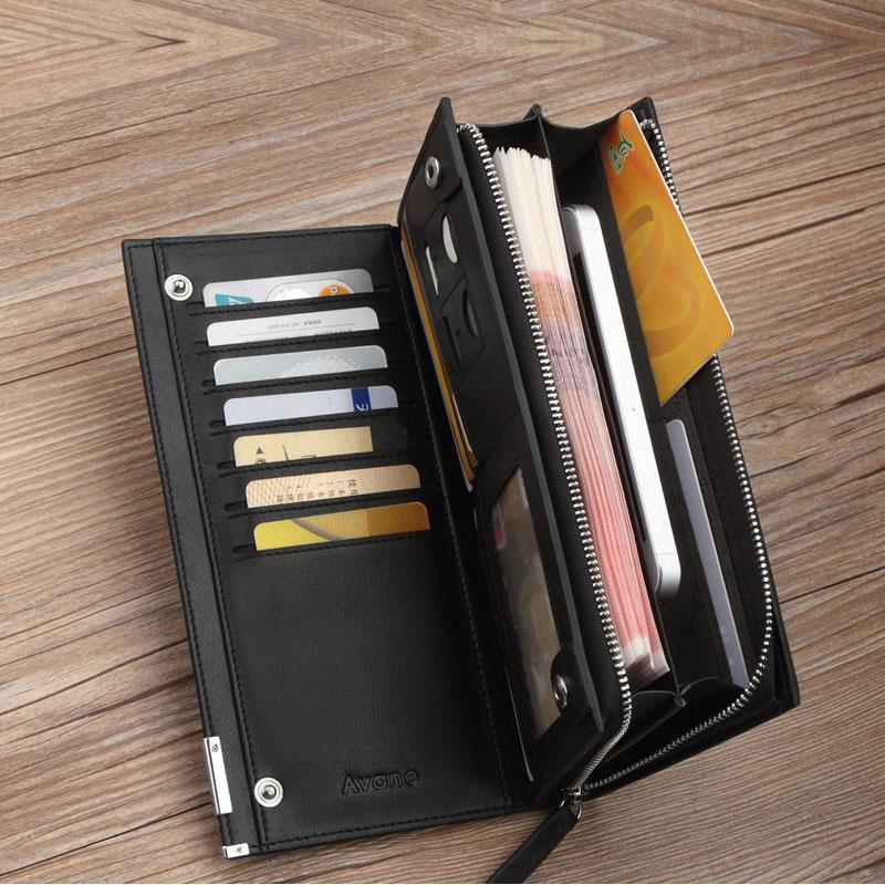 Любовь человек нигерия бумажник длинный мужской деньги клип кожа клип мужской бумажник молния кожаные телефон пакет многофункциональный сумка