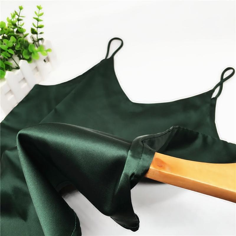 墨绿真丝吊带背心绸缎内搭打底衫短款外穿v领修身显瘦百搭糖果色