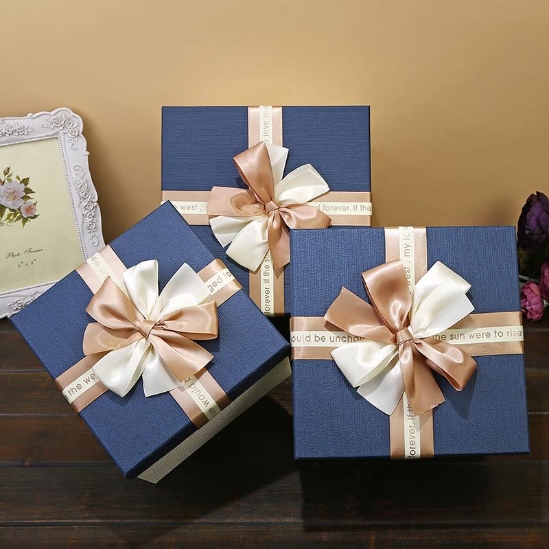 大码礼品盒正方形礼物盒子大号伴手礼礼物收纳盒生日礼物包装盒子
