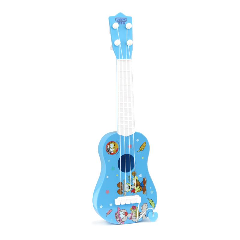 貝恩施益智早教兒童音樂吉他尤克裏裏玩具仿真可彈奏卡通吉他樂器