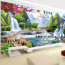 Diamond Painting 2019 New Living Room Full of Drilling Flow and Fishery Scenery Landscape Points Paste Bricks Household Embroidery Cross Embroidery