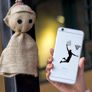 SkinAT iPhone6s手机贴纸背面透明贴彩膜苹果4.7寸贴膜超薄保护膜