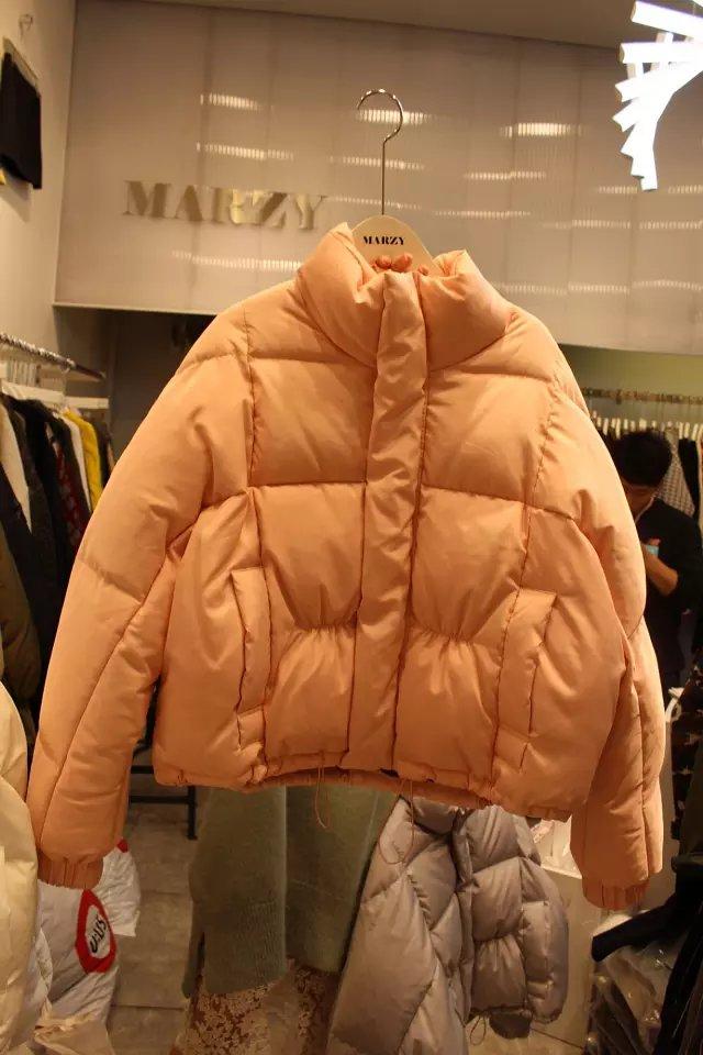 Корея Dongdaemun 2015 новый корейской версии толстый теплый хлеб подается с битой рукавами зимой вниз пальто куртки пальто