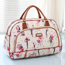 皮短途旅行袋旅游包包PU新款韩版大容量男女手提旅行包行李包邮