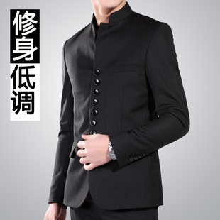 Men s tunic collar Slim small suit Korean version of casual suit jacket tide will Xidan West China Wind