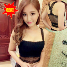 New authentic render small vest hollow lace bowknot wipes bosom Ms joker strapless, sexy render unlined upper garment