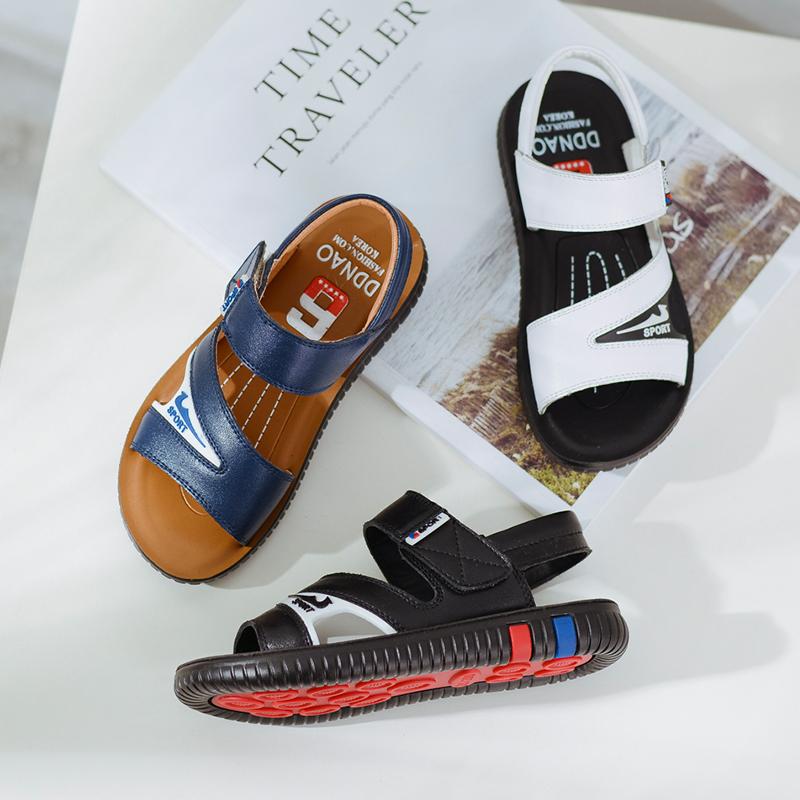 童鞋 男童凉鞋夏季2018新款儿童沙滩鞋软底中大童男孩凉鞋韩版潮