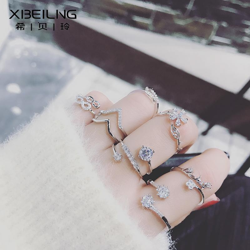 Корея дикий алмаз циркон открытие декоративный кольцо женщина личность япония и южная корея мода прилив человек еда палец кольцо небольшой аксессуары