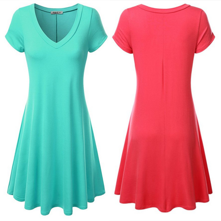EBay Европы и внешней торговли оригинальные конфеты цветные платья с v-образным вырезом коротким рукавом платья в 2015 году скорость продать