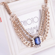 Package mail compose well Europe 2015 new short bi-retro Royal Joker fashion necklace jewelry