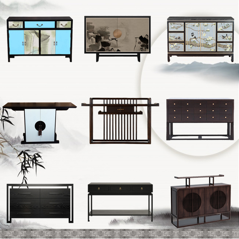 Новый китайский стиль вход кабинет простой современный твердая деревянная обедая сервант шкаф отели может место окрашенный ворота зал кабинет декоративный кабинет