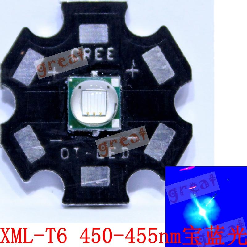 美国进口CREE XML-T6 U2 灯泡led 10W蓝光 超亮大功率灯珠