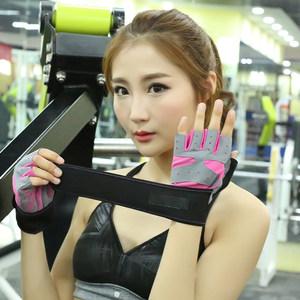 夏薄款透气防滑半指健身房手套女护腕器械训练运动锻炼单车哑铃男