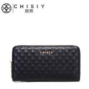 Qi XI leather wallet large zip around wallet 2015 new style clutch bag women's Europe and simple card ladies wallet