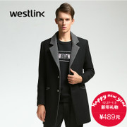 Westlink/2015 West new simple mosaic in winter wool coat men's casual jackets