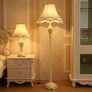 歐式落地燈創意時尚客廳立式落地燈簡約現代田園臥室床頭落地臺燈