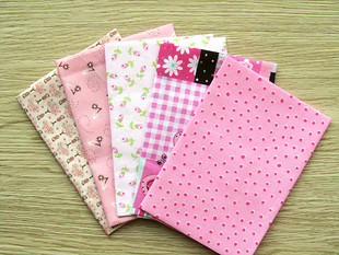 Diy handmade cotton cloth material 25x27cm 5 color pink plain cloth head cloth trade group