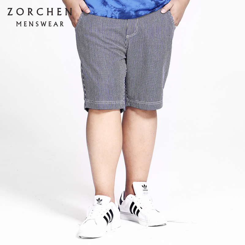 Zorchens large mens striped casual shorts for mens big size
