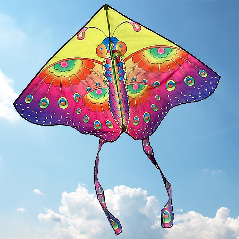 蝴蝶風箏濰坊恒江風箏兒童卡通風箏線輪易飛小風箏可愛風箏