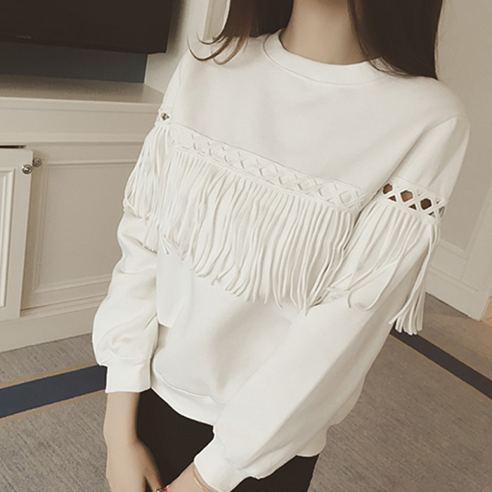 秋衣外穿女士打底衫短款上衣服女春 衛衣 學生純棉長袖T恤