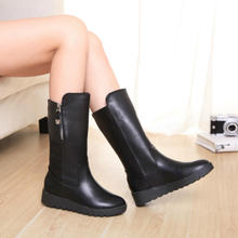 Side zipper over-the-knee knight high female boots round head their boots shoes of England in the fall and winter of locomotive riding boots