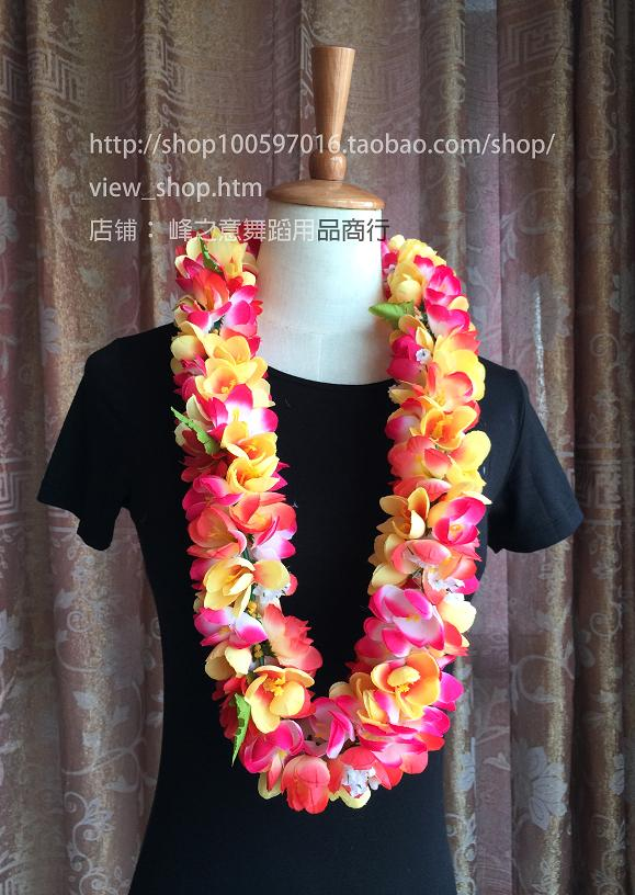 Гавайи юбки танец гирлянда танец шея кольцо производительность аксессуары hawaii flower lei песчаный пляж гирлянда