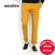 West fall 2015 new men's pants Korean fashion simple straight men's trousers and comfortable pure cotton casual pants HM