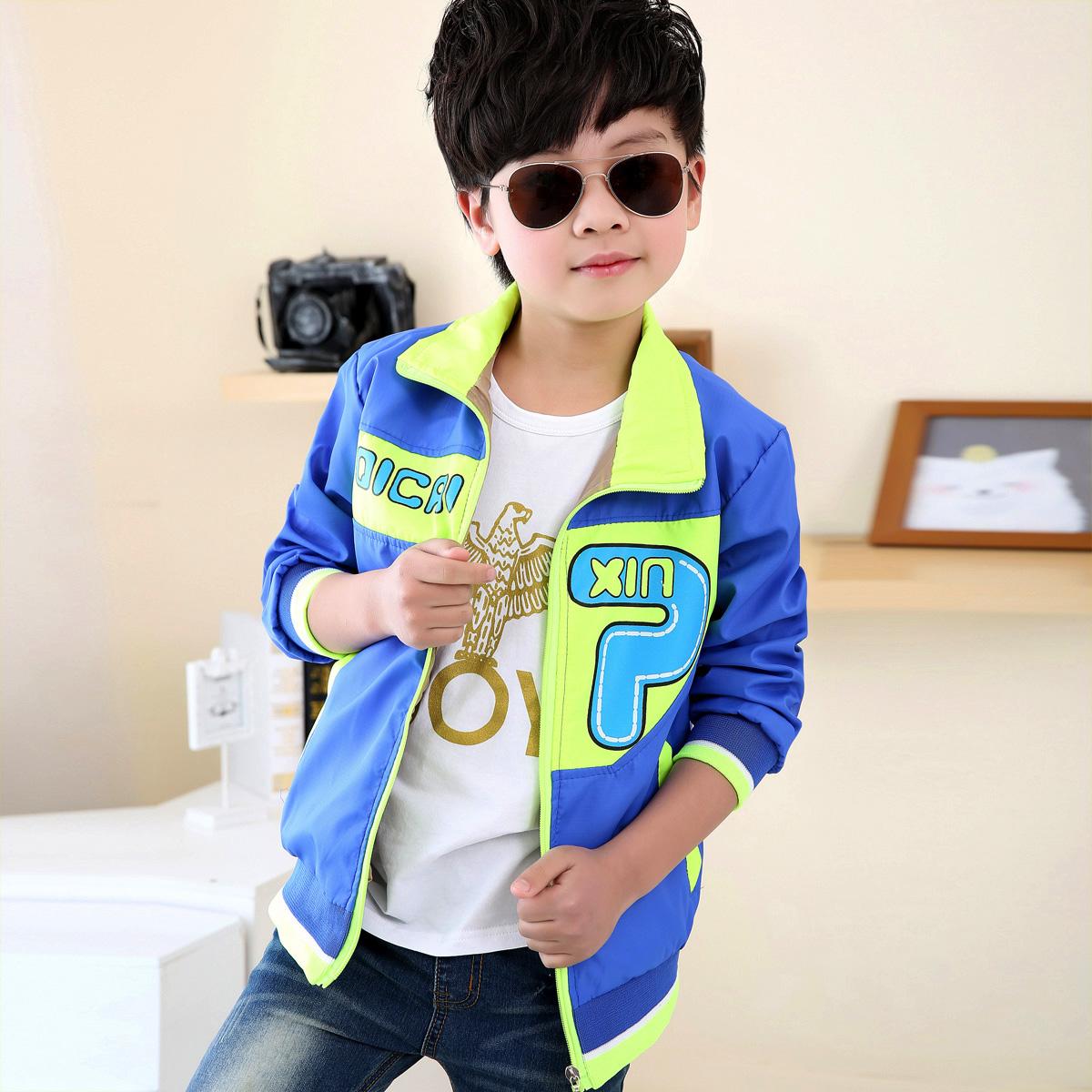 Новый осенний рубашку 2015 дети мальчики мальчиков куртки одежда пальто Корейский ветровка куртка