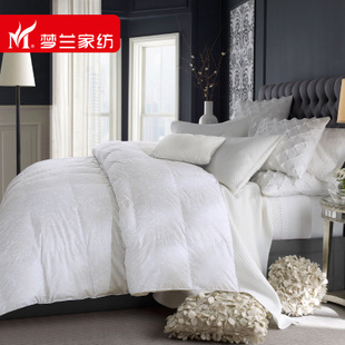 Menglan textile bedding genuine white duvet promoter is the core winter fashion printed duvet was feather light luxury