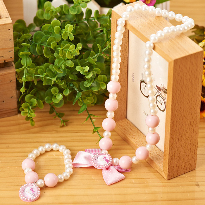 新年 包郵Hello Kitty寶寶兒童頭飾發飾可愛項鏈手鏈