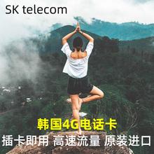 韩国电话卡高速4g上网卡手机卡首尔釜山济州岛旅游可选3G无限流量