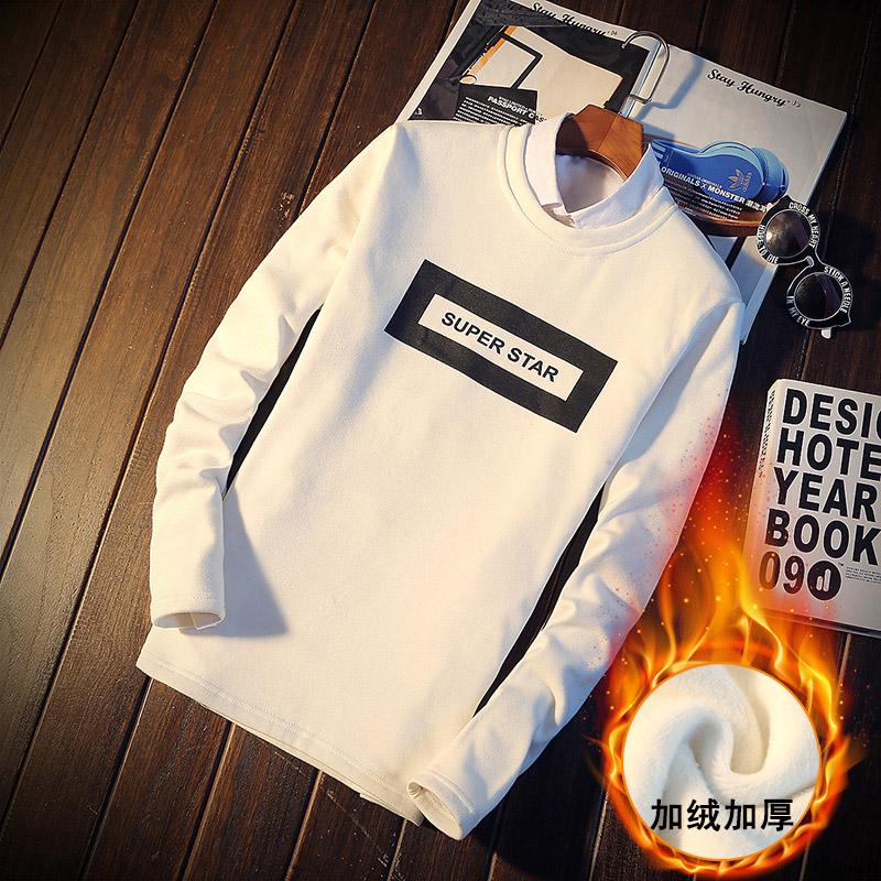 Зимний молодежи экипаж шеи свитер мужской XL Пальто Мужская Тайд добавил корейской версии самостоятельной шерсти базы рубашки