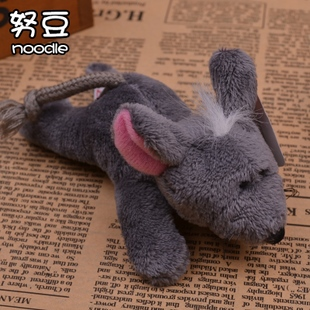 Cheap wholesale original single effort beans tossed wedding cute little gray mouse doll plush cloth toys fridge magnet
