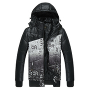 Kang step running new men's sportswear for fall/winter warm coat short plus size casual Hooded down jacket lightweight